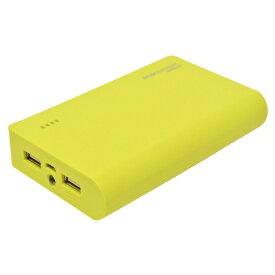 ラスタバナナ RastaBanana タブレット/スマートフォン対応[micro USB/USB給電] USBモバイルバッテリー +micro USBケーブル (10000mAh・2ポート:2A/1A) RLI100M2A01LY ライムイエロー [10000mAh /2ポート]