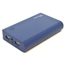 ラスタバナナ RastaBanana タブレット/スマートフォン対応[micro USB/USB給電] USBモバイルバッテリー +micro USBケーブル (2A/1A) ネイビー RLI100M2A01NV [10000mAh /2ポート /充電タイプ]
