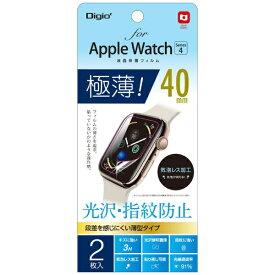ナカバヤシ Nakabayashi AppleWatch 40mm Series4用 液晶保護フィルム 極薄 光沢指紋防止 SMWAW401FLST[SMWAW401FLST]