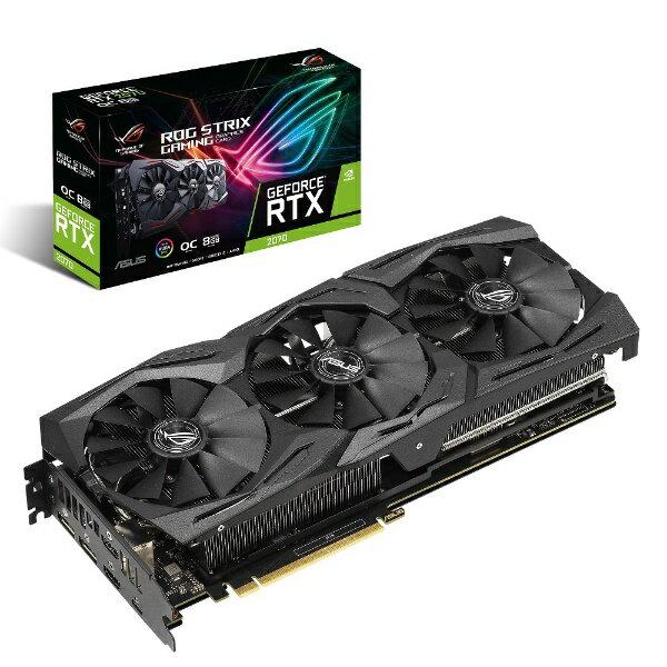 ASUS エイスース グラフィックボード NVIDIA GeForce RTX 2070 搭載 PCI-Express ROG-STRIX-RTX2070-O8G-GAMING GeForce RTXシリーズ ROG-STRIX-RTX2070-O8 [8GB][ROGSTRIXRTX2070O8]