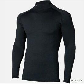 アンダーアーマー UNDER ARMOUR メンズ ゴルフ 長袖ベースレイヤー UAコールドギアフィッティドロングスリーブモック(XLサイズ/Black×Rhino Gray)1327516 001