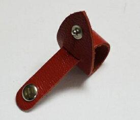 ガレリア GALLERIA Zip Tie 牛革コードクリップ 3020104 レッド