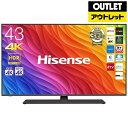 ハイセンス Hisense 【エントリーでポイント最大37倍 マラソン期間限定】43A6800 液晶テレビ [43V型 /4K対応 /BS・CS…