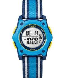 タイメックス TIMEX TIMEX Kids タイムマシーンデジタル ブルーストライプ ナイロンストラップ TW7C25900 [正規品]