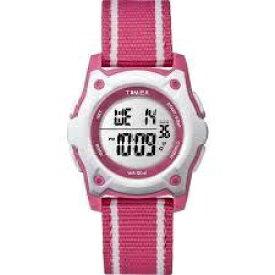 タイメックス TIMEX TIMEX Kids タイムマシーンデジタル ピンクストライプ ストラップ TW7C26200 [正規品]
