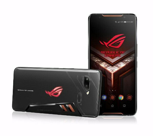 ASUS エイスース ROG Phone ブラック「ZS600KL-BK512S8」6型 Android 8.1 Snapdragon 845 メモリ/ストレージ:8GB/512GB nanoSIM x2 ドコモ/au/Ymobile SIMフリースマートフォン ブラック[ZS600KLBK512S8]