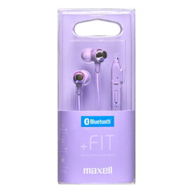 マクセル Maxell ブルートゥースイヤホン カナル型 パープル MXH-BTC110PU [リモコン・マイク対応 /ワイヤレス(ネックバンド) /Bluetooth][MXHBTC110PU]