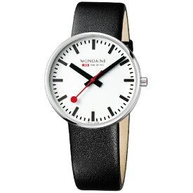MONDAINE モンディーン メンズ腕時計 ジャイアント バックライト 42mm MONDAINE ホワイト・ブラックレザー MSX.4211B.LB [正規品][MSX.4211B.LB]
