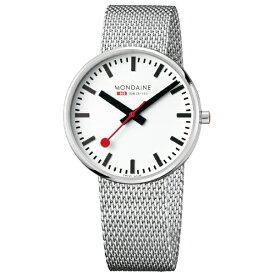 MONDAINE モンディーン メンズ腕時計 ジャイアント バックライト 42mm MONDAINE ホワイト・メッシュベルト MSX.4211B.SM [正規品]