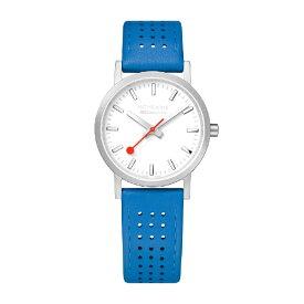 MONDAINE モンディーン レディース腕時計 クラシックシーズナル 30mm MONDAINE ホワイト・ブルーレザー A658.30323.16SBD [正規品]