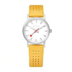 MONDAINE モンディーン レディース腕時計 クラシックシーズナル 30mm A658.30323.16SBE ホワイト・イエローレザー
