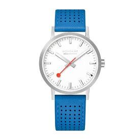 MONDAINE モンディーン メンズ腕時計 クラシックシーズナル 40mm MONDAINE ホワイト・ブルーレザー A660.30360.16SBD [正規品]