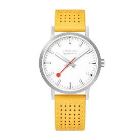 MONDAINE モンディーン メンズ腕時計 クラシックシーズナル 40mm MONDAINE ホワイト・イエローレザー A660.30360.16SBE [正規品]