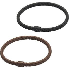 ファイテン PHITEN RAKUWAブレスS レザータッチ(ブラック、ブラウン 2色セット/17cm)