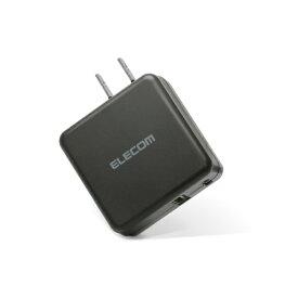 エレコム ELECOM スマホ用USB充電コンセントアダプタ 3.6A出力 USB-Aメス1ポート Type-Cメス1ポート ブラック MPA-ACC07BK [2ポート /Smart IC対応]