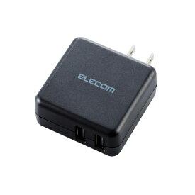 エレコム ELECOM スマホ用USB充電コンセントアダプタ 3.6A出力 おまかせ充電搭載 ブラック MPA-ACU03XBK [2ポート /Smart IC対応]