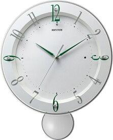 リズム時計 RHYTHM 掛け時計 【ソフレールS】 白 8MX408SR03 [電波自動受信機能有]