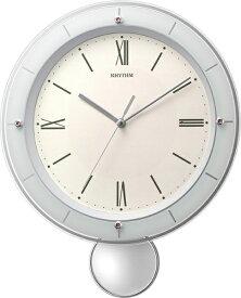 リズム時計 RHYTHM 掛け時計 【ソフレールS】 ピンク 8MX408SR13 [電波自動受信機能有]