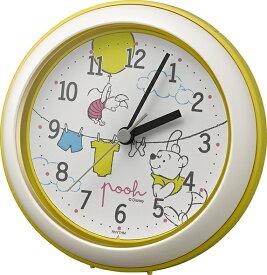 リズム時計 RHYTHM 掛け時計 掛置兼用 バスクロック くまのプーさん 黄色 4KG716MC33