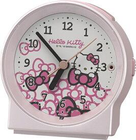 リズム時計 RHYTHM 目覚まし時計 めざましとけいR671 ピンクパール色(白) 8RE671MB13 [アナログ]
