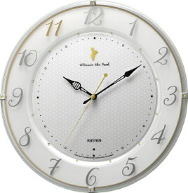 リズム時計 RHYTHM 掛け時計 【カケドケイ542/クマノプーサン】 8MY542MC03 [電波自動受信機能有]