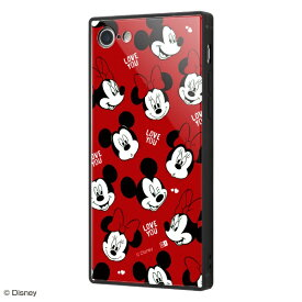 イングレム Ingrem iPhone SE(第2世代)4.7インチ/ iPhone 8 / 7用 『ディズニーキャラクター』 耐衝撃ガラスケース KAKU IQ-DP7K1B/MKN02 『with a smile』_6