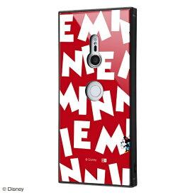 イングレム Ingrem Xperia XZ3用 『ディズニーキャラクター』 耐衝撃ガラスケース KAKU IQ-RDXZ3K1B/MN002 『ミニーマウス/I AM』