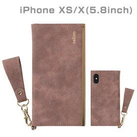 HAMEE ハミィ [iPhone XS/X専用]salisty(サリスティ)Q スエードスタイル ダイアリーケース(スモーキーピンク)Q-DC001G 276-901021