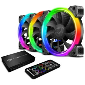 COUGAR クーガー ケースファン[120mm / 1500RPM]+LEDコントローラー VORTEX RGB HPB 120 Cooling Kit CF-V12SET-RGB