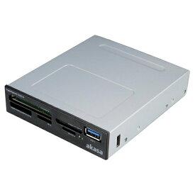 アイネックス ainex UHS-II対応 USB3.0 内蔵カードリーダー AK-ICR-27 ブラック