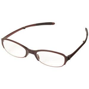 パール Pearl 折りたたみ老眼鏡 シンプルビジョン コンパクト SV-401 WI(ワイン/+3.00)