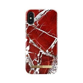IDEAL OF SWEDEN iPhone XS/X用ケース スカーレットレッドマーブル IDFCS18-IXS-71