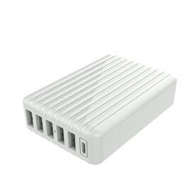 磁気研究所 Magnetic Laboratories AC式スマホ用USB充電コンセントアダプタ 6台同時充電 5ポートUSB+1ポートType-C ML-ACUS6PC60W ホワイト