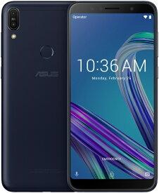ASUS エイスース Zenfone Max Pro M1 ディープシーブラック「ZB602KL-BK32S3」Snapdragon 636 6型 メモリ/ストレージ:3GB/32GB nanoSIM x2 DSDV対応 ドコモ/au/YmobileSIM対応 SIMフリースマートフォン ディープシーブラック[ZB602KLBK32S3]