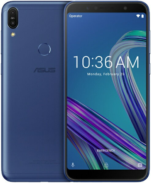 ASUS エイスース Zenfone Max Pro M1 スペースブルー「ZB602KL-BL32S3」Snapdragon 636 6型 メモリ/ストレージ:3GB/32GB nanoSIM x2 DSDV対応 ドコモ/au/YmobileSIM対応 SIMフリースマートフォン スペースブルー[ZB602KLBL32S3]