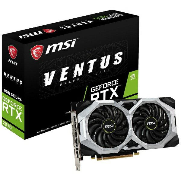 MSI エムエスアイ グラフィックボード MSI GeForce RTX 2070 VENTUS 8G GeForceRTX2070VEN [8GB][GEFORCERTX2070VEN]