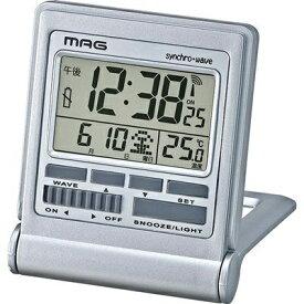 ノア精密 NOA 目覚まし時計 【MAG(マグ)】 シルバー T-714SMZ [デジタル /電波自動受信機能有]