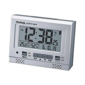 ノア精密 NOA 目覚まし時計 【MAG(マグ)】 シルバー T-694SMZ [デジタル /電波自動受信機能有]