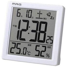 ノア精密 NOA 目覚ましデジタル時計 カッシーニ MAG T-726WH-Z [デジタル]