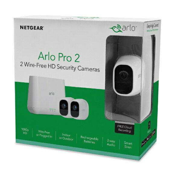 Arlo アーロ Aro Pro2 スマートセキュリティシステム (ベースステーション+カメラ2台セット) VMS4230P100JPS [暗視対応 /有線・無線 /屋外対応]