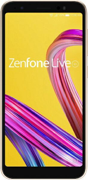 ASUS エイスース Zenfone Live L1 シマーゴールド「ZA550KL-GD32」 Snapdragon 430 5.5型ワイド メモリ/ストレージ:2GB/32GB nanoSIMx2 DSDS対応 ドコモ/au/ソフトバンク対応 SIMフリースマートフォン[ZA550KLGD32]