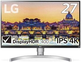 LG 液晶ディスプレイ ホワイト 27UL650-W [27型 /ワイド /4K(3840×2160)][27UL650W]