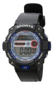 クレファー CREPHA TELVA デジタルウォッチ ウレタンバンドモデル [メンズ腕時計 /電池式] TS-D154-BL