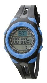 クレファー CREPHA TELVA デジタルウォッチ ウレタンバンドモデル [メンズ腕時計 /電池式] TS-D157-BL