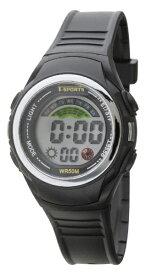 クレファー CREPHA TELVA デジタルウォッチ ウレタンバンドモデル [メンズ腕時計 /電池式] TS-D158-BK
