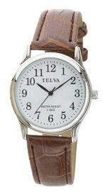 クレファー CREPHA TELVA 皮バンドモデル [メンズ腕時計 /電池式] TE-AM147-BRS