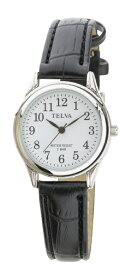 クレファー CREPHA TELVA 皮バンドモデル [レディース腕時計 /電池式] TE-AL146-BKS