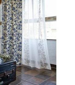 スミノエ SUMINOE ドレープカーテン クルヌ(100×135cm/ブルー)【日本製】