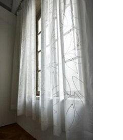スミノエ SUMINOE レースカーテン リーニアボイル(100×133cm/ホワイト)【日本製】
