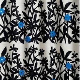 スミノエ SUMINOE ドレープカーテン クチナシ(100×135cm/ブラック)【日本製】